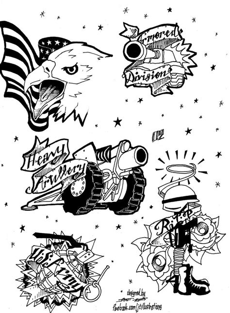 Tattoo Flash Page 02 COMMISSION by JTIllustrations on DeviantArt