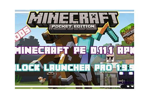descargar gratis minecraft pocket version 11.1 apk