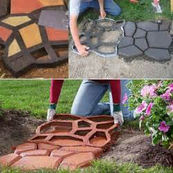 Image of: Plastic Stepping Yard Concrete Stone Patio Driveway Decor Paving Mold Brick Mold Cad 24 89 Driveway Design With Your Own Style