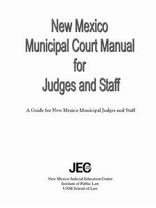 New Mexico Municipal Court Manual For Judges