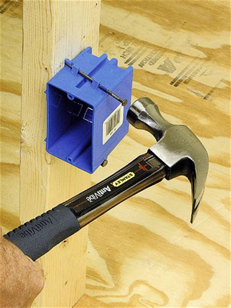 installing an electrical box in framing how to install