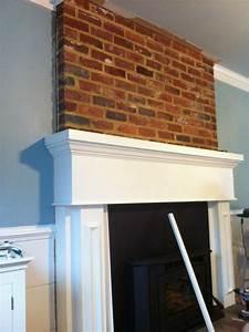 Installing Mantel Over Brick Fireplace