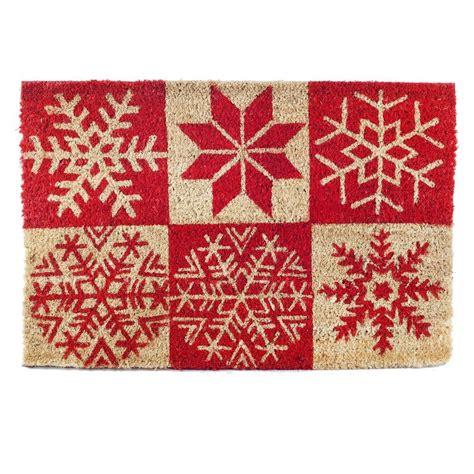 snowflake doormat 18 best images about door mats on