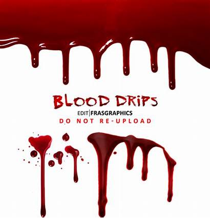 Blood Psd Drips Template Drip Photoshop Graphic