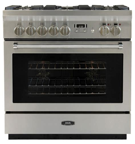 aga dual fuel range aga professional 36 quot dual fuel self cleaning range