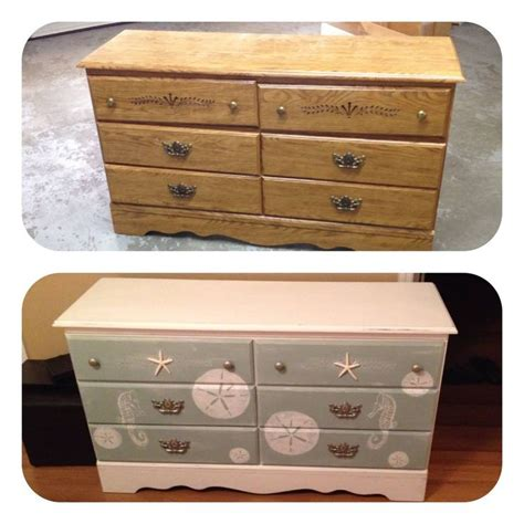 how to redo a dresser shabby chic outdated dresser redo to shabby chic beach distressed chalk paint dresser with stencils and