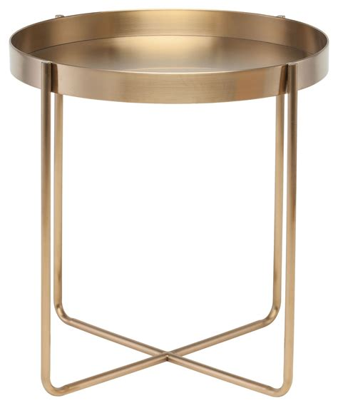 gold end table gaultier gold metal side table from nuevo coleman furniture 4876