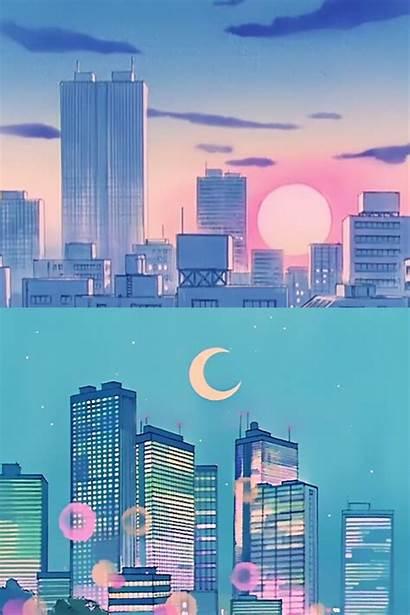 Sailor Moon Aesthetic Anime Wallpapers Vaporwave Cartoon