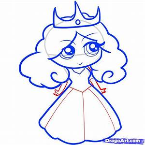 How to Draw a Princess for Kids, Step by Step, People For ...