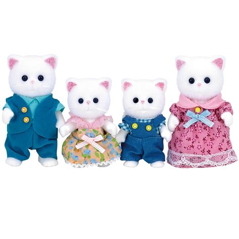Sylvanian Families Cat Family by Sylvanian Families Cat Family Set 163 16 00