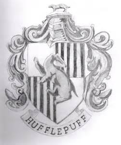 Hufflepuff Crest Drawing