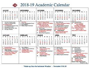 academic school calendar sp warner christian academy