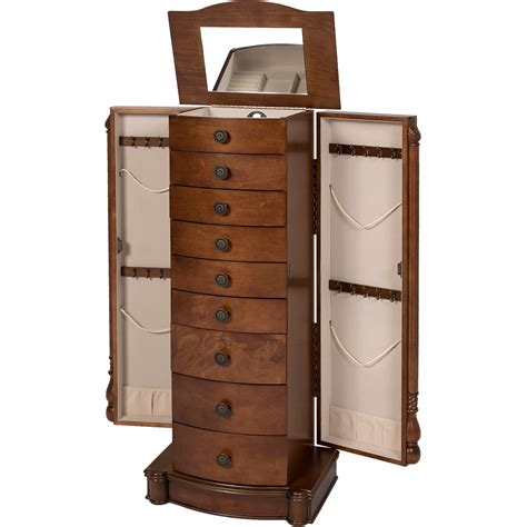 jewelry chest armoire armoire jewelry cabinet box storage chest stand organizer