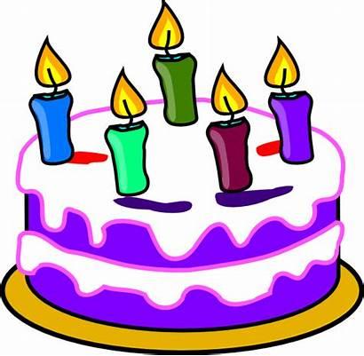 Birthday Cake Clip Clipart Animated Clker Domain