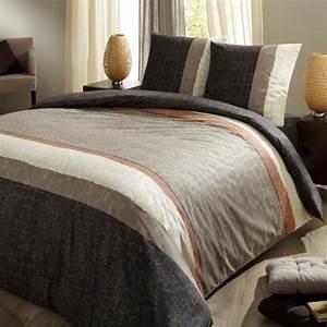 Housse De Couette Marron : c design home textile c design home textile ~ Teatrodelosmanantiales.com Idées de Décoration
