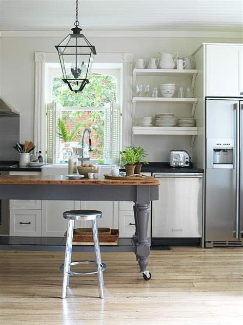 Charcoal Gray KItchen Island   Cottage   kitchen   Margot