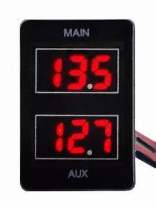 Dual Battery Volt Meter For Toyota Prado 150  Landcruiser