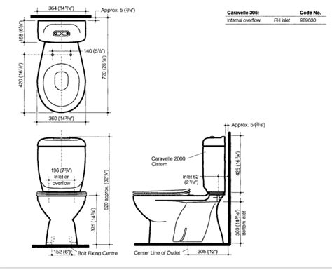 Standard Height Of Water Closet by Caravelle 305 Tech