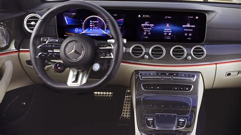Equiped with newest technology, next level of intelligent drive, amazing power and efficiency. Mercedes Benz E53 AMG Estate 2021 Interior Wallpaper