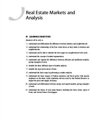 sample market analysis templates word