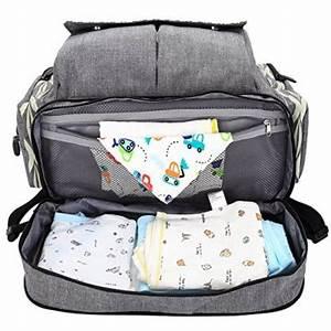 Wickeltasche Mit Wickelunterlage : lekebaby baby wickeltasche rucksack mit wickelunterlage unisex f r mom und dad grau ~ Orissabook.com Haus und Dekorationen