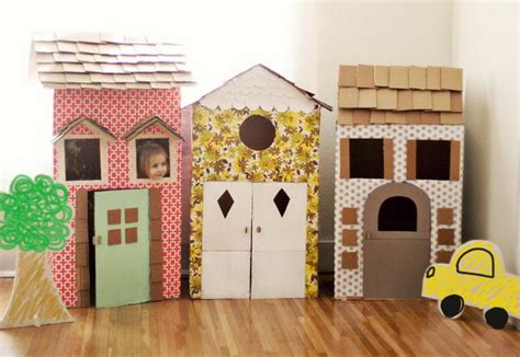 creative diy cardboard playhouse ideas hative