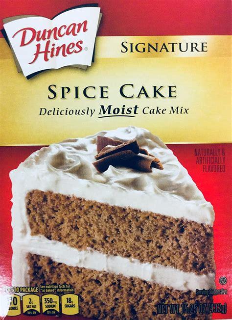 Preheat oven to 375 f. Duncan Hines Signature Spice Cake Mix 15.25 oz (pack of 2) - Walmart.com - Walmart.com
