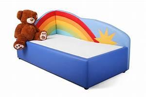 Kinderbett Mit Matratze Und Lattenrost 90x200 : kinderbett tomto motiv regenbogen inkl matratze und lattenrost ~ Bigdaddyawards.com Haus und Dekorationen