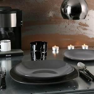 Service De Table 18 Pièces : service assiette gris les ustensiles de cuisine ~ Teatrodelosmanantiales.com Idées de Décoration