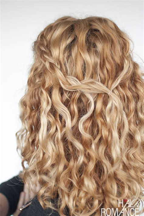 an easy half up braid tutorial for curly hair hair romance