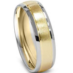 white gold mens wedding band mens two tone wedding ring 14k white yellow gold 6mm