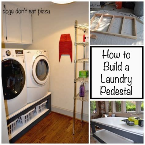 how to build a pedestal for your laundry room the diy