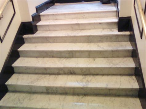 restored marble staircase and steps white carrara