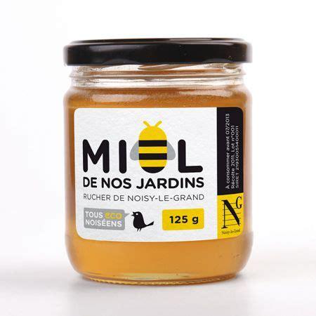 etiquette pour pot de miel pot de miel de noisy grapheine de graphiste agence de communication logos pictos