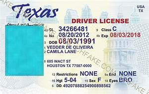 fake drivers license template best business template With texas temporary drivers license template