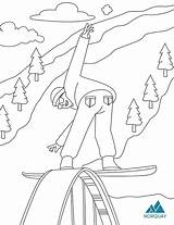 Pages Colouring Ski Pdf Norquay sketch template