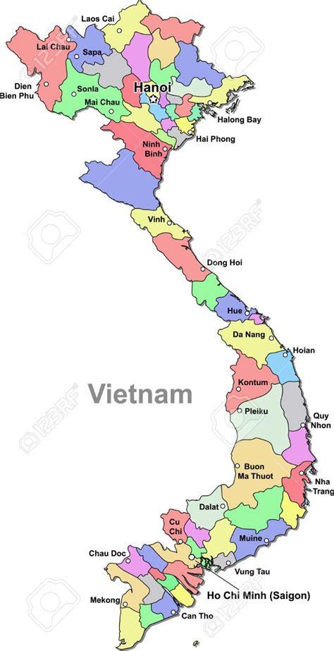 vietnam map stock vector illustration  royalty