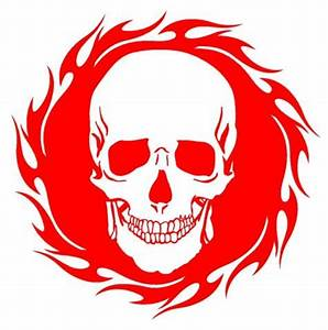 Skull Flames Decals images