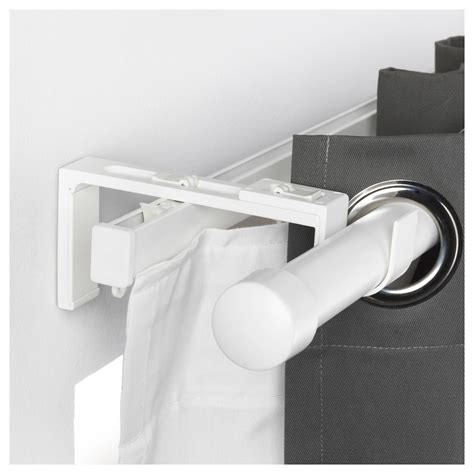 white curtain rod vidga curtain rod holder white ikea