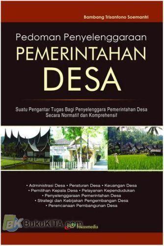 Buku Pedoman Penyelenggaraan Pemerintahan Desa | Bukukita