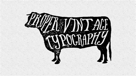 illustrator cc cs6 proper vintage typography youtube