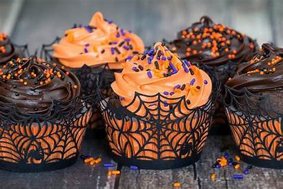 Halloween Cupcakes Orange Dolci Chocolate Cupcake Facili