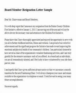board member application template - non profit board resignation letter sample letter