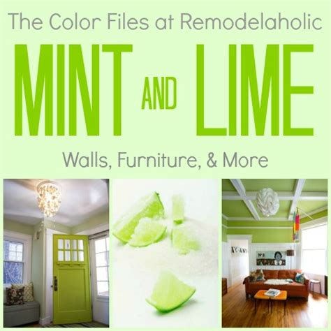 remodelaholic color crush decorating  mint green