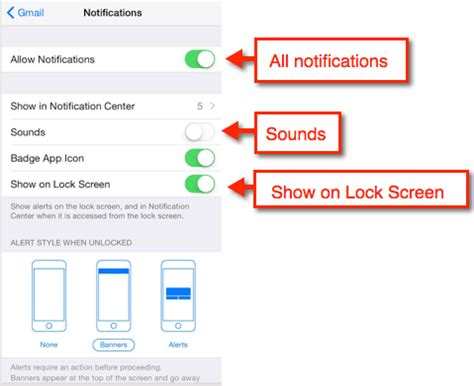 iphone notification sounds iphone 6 gmail notifications and sounds settings
