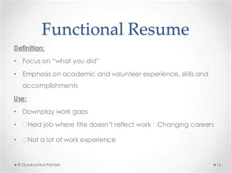 Definition Of Functional Resume by Application Resume