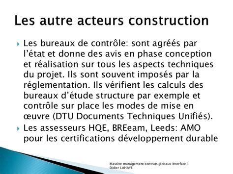 bureau de controle batiment batiment passage construction exploitation