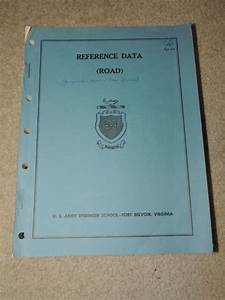 Vintage Military Field Manuals Reference Data Road Vehicle