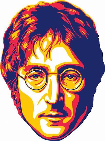 Beatles John Lennon Portrait Pop Monochromatic Redbubble