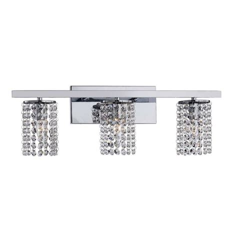 chrome and crystal 3 light round shade wall sconce by the